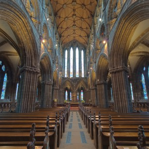 Interior of Glasgow Cathedral by Steve Collins licensed under CC-BY-2.0
